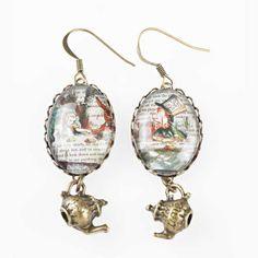 Alice in Wonderland tea party earrings. £25