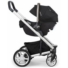 Nuna Mixx Stroller-Mykonos Nuna Pipa Car Seat-Night ❤ liked on Polyvore featuring baby
