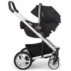 Nuna Mixx Stroller-Mykonos Nuna Pipa Car Seat-Night ❤ liked on Polyvore featuring baby