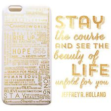 Mormon LDS iPhone 6/6s Case Phone Case, Elder Holland Quotes White/Gold