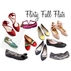 """Flirty Fall Flats"" by rajeanblomquist on Polyvore"