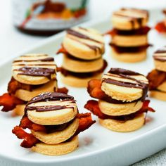 Bacon and Nutella Napoleons