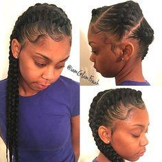STYLIST FEATURE| Love these #goddessbraids styled by #lastylist @iamglamfreak Baby hair on point #voiceofhair