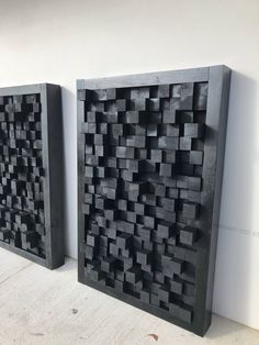 Wooden art sound diffuser black hanging acoustic panel studio theater sound dampening treatment pixel - Home Decor Studio Theater, Wooden Art, Wood Wall Art, Wooden Signs, Make Up Art, Wall Treatments, Art Pieces, Studios, Wall Decor