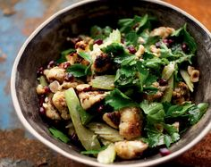 Roasted Cauliflower, Hazelnut and Pomegranate Seed Salad: Well's Vegetarian Thanksgiving