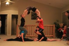96 best acroyoga 3 person poses images  poses acro