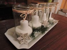 Gorgeous Christmas Centerpieces For Special Moments Christmas Candles, Christmas Centerpieces, Christmas Decorations, Table Decorations, Xmas, In This Moment, Crafts, Ladders, Advent