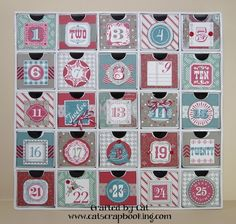 Magical Days advent calendar with Sparkle & Shine paper ~ catscrapbooking.com