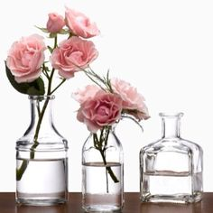 Glass Milk Bottle Bud Vases | Spotted on Keep