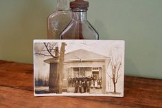 Old School Photo. Early 1900s Postcard Photo Collectible