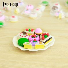 1 pcs JWHCJ Novelty cartoon fcake Modelling eraser Kawaii stationery school office supplies correction supplies child's toy gift #Affiliate