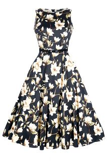 """The Famous """"Lady Vintage"""" Audrey Hepburn Dress features a full 1950s style flared..."""