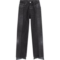 Vetements Reworked Cropped Jeans (75.960 RUB) ❤ liked on Polyvore featuring jeans, black, high waisted cropped jeans, zipper jeans, slim jeans, high rise jeans and highwaist jeans