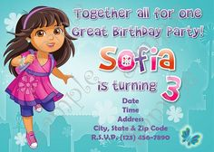 Dora and friends dora and friends birthday party invitation dora dora and friends in to the city dora and friends birthday party invitation dora filmwisefo Images