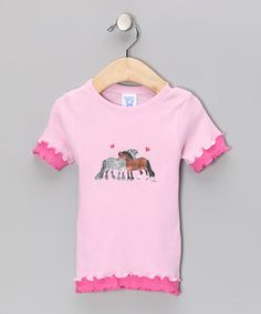 This Pink Pony Ruffle Tee - Toddler & Girls by AWST INTERNATIONAL is perfect! #zulilyfinds