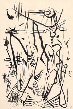 Wolfgang Paalen - Untitled (Automatic Drawing) - c.1950 ink on paper