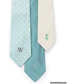 Grosgrain: Gift Ideas: Homemade Monogrammed Necktie Free Pattern