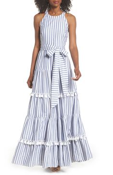 online shopping for Eliza J Tiered Tassel Fringe Cotton Maxi Dress (Regular & Petite) from top store. See new offer for Eliza J Tiered Tassel Fringe Cotton Maxi Dress (Regular & Petite) Casual Dresses, Casual Outfits, Fashion Dresses, Women's Dresses, Women's Casual, Ootd Fashion, Club Fashion, 1950s Dresses, Petite Dresses