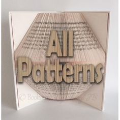 View all of the Book Folding Patterns that Bookami has to offer. Create fabulous 3D book art following our Book Folding Templates. Join the bookfolding craze with our huge range of book fold patterns.