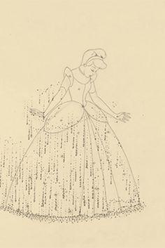 "lotsofdisney: "" Cinderella Pencil Test """