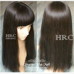 Super Natural Looking Long Soft Straight Real Human Hair Hairpieces and  Wigs For Thinning Hair for 254ea639ff