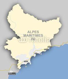 Carte et situation du département des Alpes Maritimes