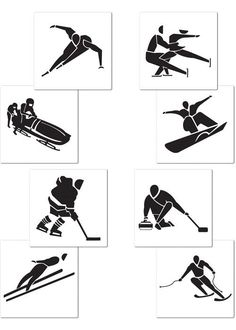 Olympic Sports, Olympic Games, Home Design, 2018 Winter Olympics, Winter Games, Winter Sports, Winter White, Party Supplies, Black And White