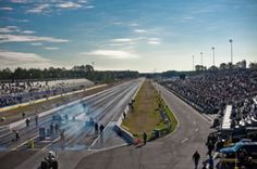 Watching a drag race at Gainesville Raceway Every March, the raceway hosts NHRA's GatorNationals