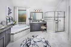 Everything's Included by Lennar, the leading homebuilder of new homes for sale in the nation's most desirable real estate markets. Dream Bathrooms, Beautiful Bathrooms, Village Builders, Balcony Flooring, Corner Tub, Apartment Office, Luxury Homes Dream Houses, Bookshelves Built In