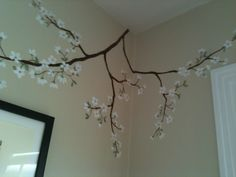 Cherry Blossom branches  mural for a girls room - Murals available as stickers on stick and peel fabric @ www.boysandgirlsmurals.com