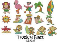 Tropical Blast Filled Designs by JUJU