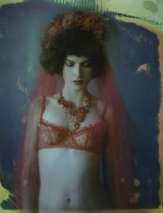Photo by Sarah Moon Moon Photography, Artistic Photography, Fashion Photography, Sarah Moon, Vogue, Paolo Roversi, French Photographers, Frou Frou, Lady In Red