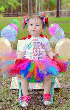 Tutu de Candy Land set Candyland tutú tutú conjunto-Rainbow