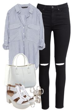 """""""Untitled #3518"""" by maddie1128 ❤ liked on Polyvore featuring H&M, Zara and ASOS"""