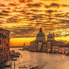 #Repost @edaccessible:Photo by Claudio Bezerra @natgeo  Venice - Italy   Burning Fiery Sunrise Sky Grand Canal View from the  Ponte dell Academmia #sunset #sunrise #sun #TagsForLikes #TFLers #pretty #beautiful #red #orange #pink #sky #skyporn #cloudporn #nature #clouds #horizon #photooftheday #instagood #gorgeous #warm #view #night #morning #silhouette #instasky #all_sunsets #italy