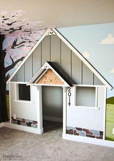 walk-in closet turned built-in playhouse