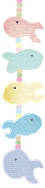 Móbile de Peixinhos com Fio Cores e Fio Belli