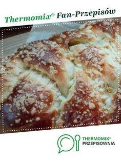 Chałka jest to przepis stworzony przez użytkownika Kasia Mamczak. Ten przepis na Thermomix<sup>®</sup> znajdziesz w kategorii Słodkie wypieki na www.przepisownia.pl, społeczności Thermomix<sup>®</sup>. Banana Bread, French Toast, Food And Drink, Favorite Recipes, Breakfast, Desserts, Breads, Sweets, Sweet Bread