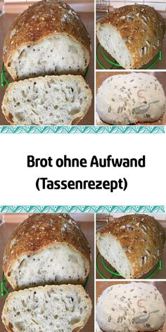 Brot ohne Aufwand (Tassenrezept) I love cup recipes. I don't need a trolley or measuring cup, just an ordinary cup of 250 ml. Yesterday I baked this delicious bread with little effort. Easy Homemade Recipes, Homemade Baby Foods, Healthy Soup Recipes, Easy Cake Recipes, Baby Food Recipes, Homemade Dog, Food Cakes, Microwave Mug Recipes, Food Dog