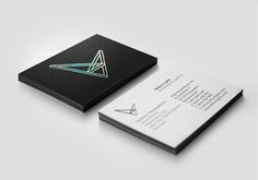 Logo and business card with holographic foil detail designed by Designers United for architectural lighting firm Reflect Lights