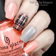 Nail Art By Belegwen: China Glaze More To Explore and Glistening Snow