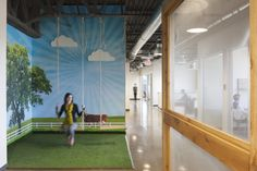 who doesn't want an inside swing?? Sprouts Farmers Market offices by RSP Architects.  Arizona.
