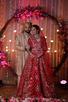 This Cross Culture Wedding Had The Most Gorgeous Couple Outfits & Bridal Jewellery To Swoon Over - Witty Vows Red Wedding Lehenga, Cute Couple Outfits, Green Lehenga, Pink Gowns, Indian Wedding Photography, Lehenga Designs, Bridal Jewellery, Bridal Portraits