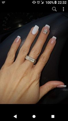 130 glitter gel nail designs for short nails for spring 2019 page 26 nageldesign french Cute Nails, Pretty Nails, My Nails, Diva Nails, Elegant Nails, Stylish Nails, Gel Nagel Design, Glitter Gel Nails, Glitter French Manicure