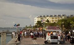Mallory Square, great for watching the sunset and street performers- Key West, FL