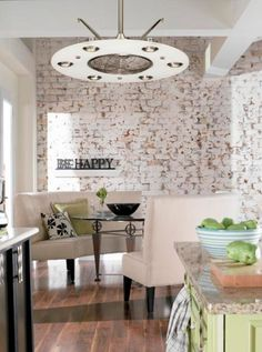 Exposed brick/kitchen