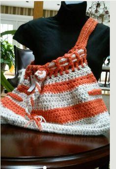 Orange and Tan Messenger Bag