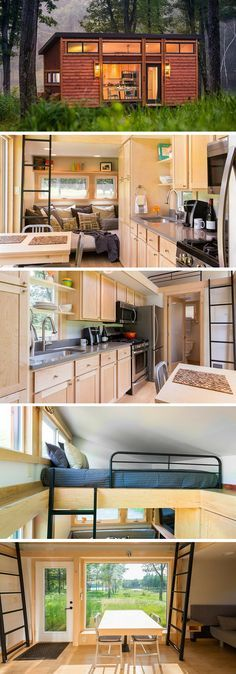 The Traveler tiny house from ESCAPE Homes. A luxury tiny house with a gorgeous interior!