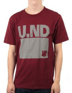 04398c01 ND T-Shirt - Red by Undefeated from our Clothing range - Reds - @  fatbuddhastore