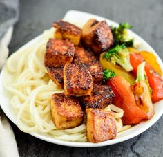 Crispy Hoisin Tofu Recipe! A quick & easy, high-protein meal! Serve with your favorite stir-fried veggies for the perfect dinner! Vegan and gluten-free!